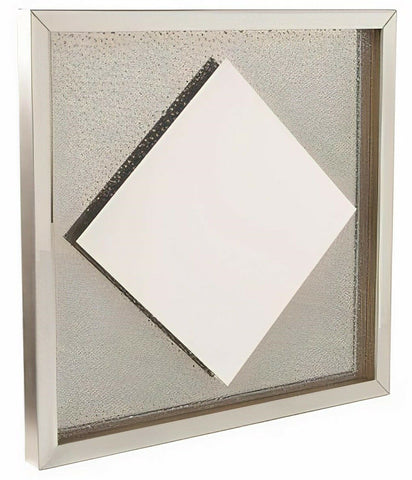 Large Bubbled Glass Square Wall Mirror 42cm x 42cm