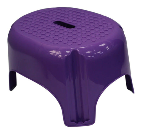 Bright Coloured Anti Slip Stepping Stool, Bathroom, Kitchen Stool Purple