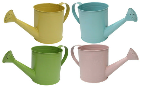 Pastel Colour Small Metal Watering Can 2.5 Litre Retro Home Decor Watering can