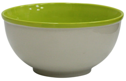 Extra Large Ceramic Deep Mixing Bowl Stoneware 25cm Diameter Green 4 Litre