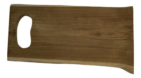 42cm Teak Wood Large Chopping Board Serving Board Serving Platter Unique Natural