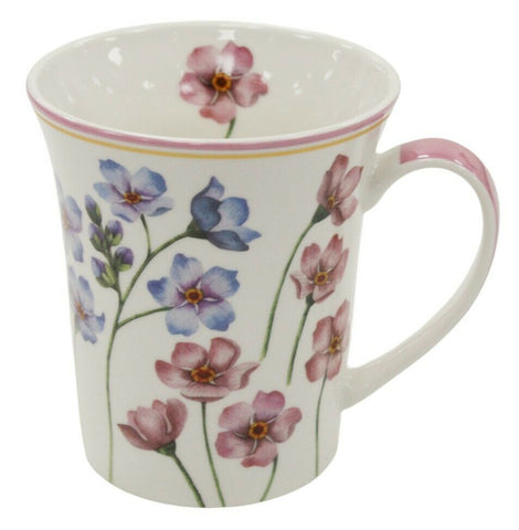 Set of 4 Leonardo Collection Fine China Gift Boxed Floral Design Mug Set 300ml