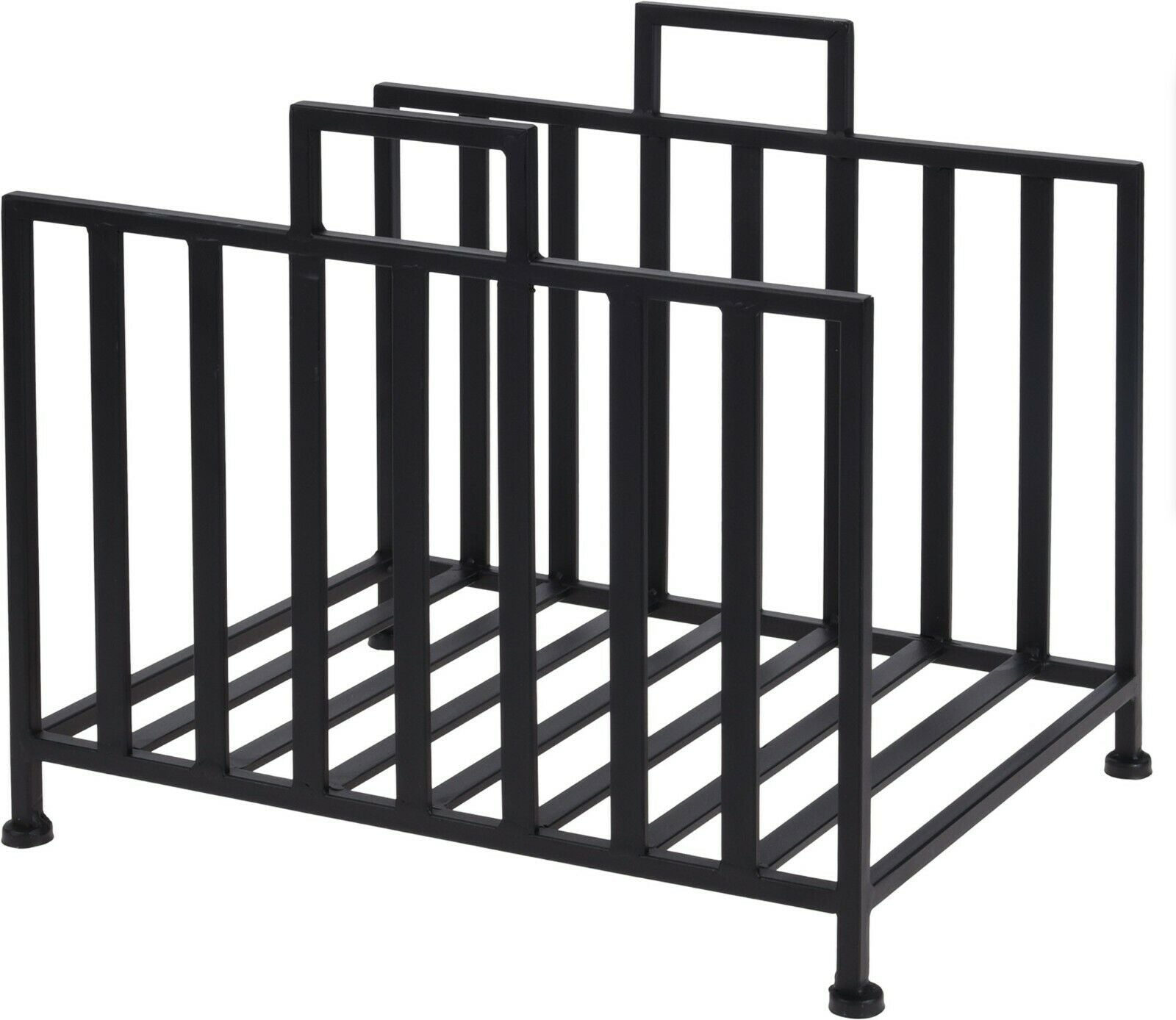 Black Metal Log Storage Stand Log Basket Holder Rack 40 x 31 x 35 cm