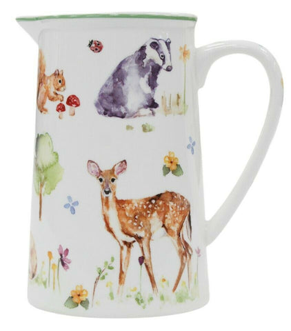 Leonardo Collection Fine China 600ml Jug Woodland Wildlife Tea Milk Coffee Jug