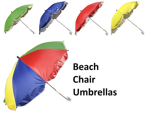 Beach Chair Umbrella Parasol Tilting Umbrella For Beach Chairs Bright Colours