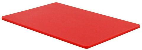 Large Plastic Chopping Board Red Thick Double Sided Non Slip Food Prep 45x30cm