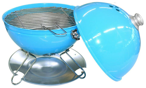 Table Top Kettle BBQ Charcoal Barbecue Blue Portable BBQ
