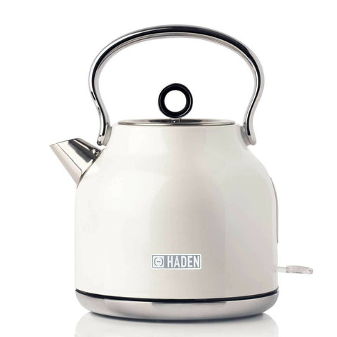 Haden Heritage Kettle Rapid Boil Farmhouse Style Kettle White 3 Kw 1. 7 Litre