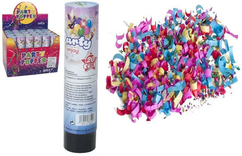 Bulk 24 x Large Party Popper Confetti Cannon Poppers Shoots up to 10 Meters 20cm