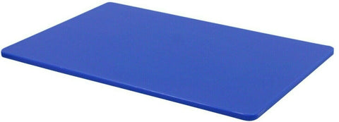 Large Plastic Chopping Board Blue Double Sided Cutting Board Extra Thick 45x30cm