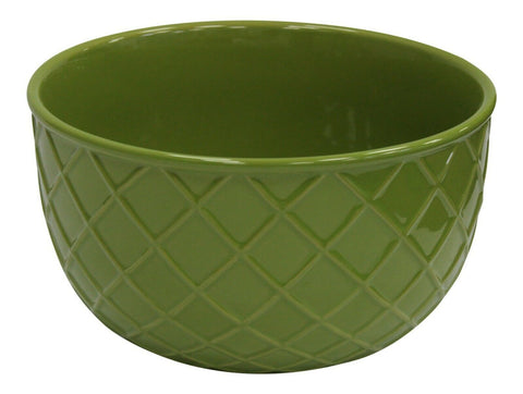 Extra Large Ceramic Deep Mixing Bowl Stoneware 25cm Diameter Green 5 Litre