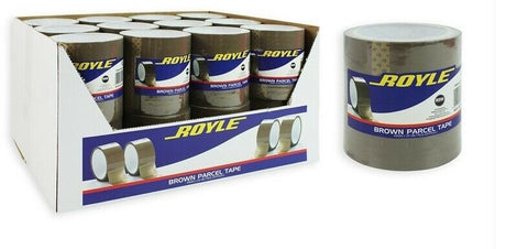 48 Rolls Brown Parcel Tape Packing Tape 48mm