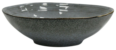 Extra Large Salad Bowl 30cm Sald Bowl Grey Marble Effect Ceramic Serving Bowl