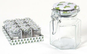 Set of 12 Glass Small Clip Top Jars Air Tight 150ml Reuseable Swing top Lid
