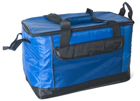 34 Litre Strong Large Cooler Bag Picnic Insulated Freezer Bag Blue