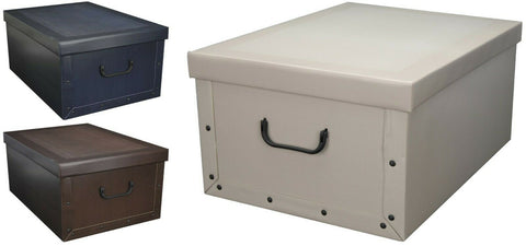 Cardboard Large Storage Boxes With Lid Storage Box Toy Box & Handle 45 Litre