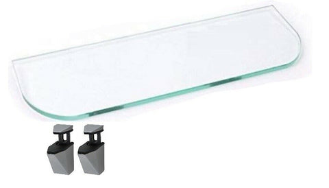 Clear Glass Shelf Length 40cm Width 13cm Shelving & Wall Brackets Bathroom Shelf
