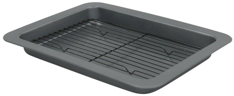 Ex Large Roast & Rack Tray Non Stick Seamless Cake Tin Baking Pan Tray