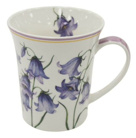 Set of 4 Leonardo Collection Bluebells China Gift Boxed Floral Mug Set 300ml