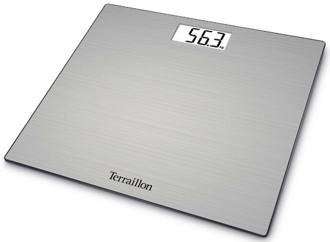 Terraillion Slim Digital Bathroom Scales Glass & Stainless Steel Compact 180KG