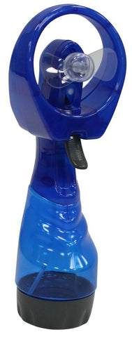 Handheld Fan Water Mist Spray Fan Portable Fan Blue Battery Operated Camping Fan