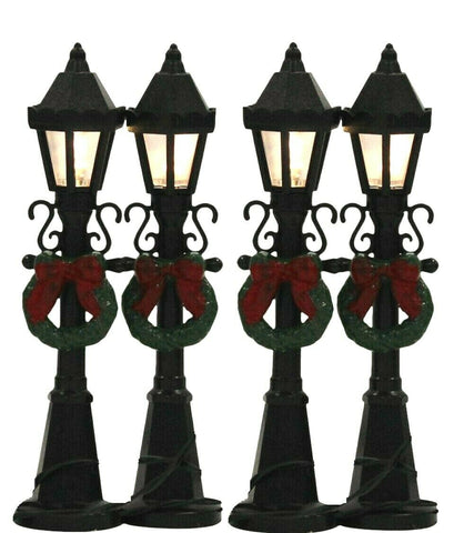 Winter Festive Decoration - Lightup Christmas Ornament Mini Village Lamp Posts
