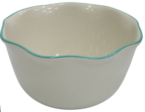 Extra Large Ceramic Deep Mixing Bowl Stoneware 26cm Diameter White 4.5 Litre