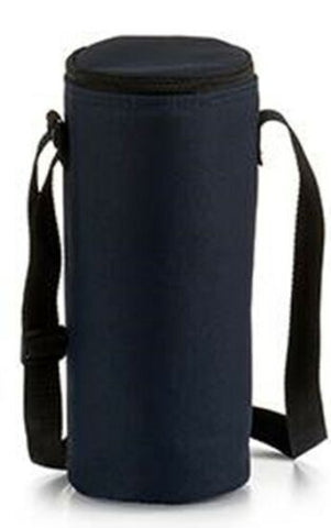 1.5 Litre Insulated Bottle Cool Bag Zipped Drinks Carrier Wine Cooler Navy Grey