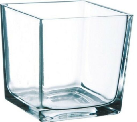 10cm Clear Glass Cube Vase Square Vase Flower Vase Home Decor Wedding