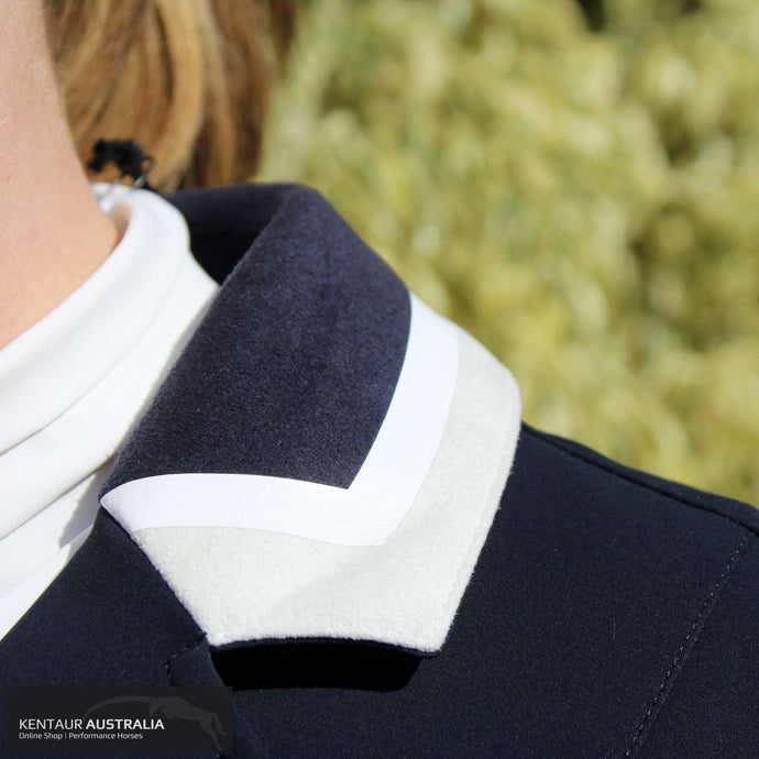 Cavalleria Toscana '3 Colour Collar' Womens Competition Jacket Navy (7901) / AU 14 Show Jackets