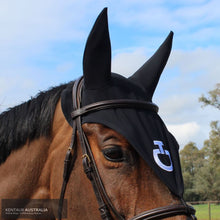 Load image into Gallery viewer, Cavalleria Toscana 'Attachable Soundless' Tie Down Ear Bonnet Black (9999) / Full Ears