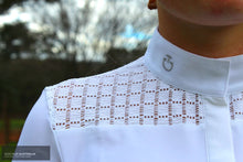 Load image into Gallery viewer, Cavalleria Toscana 'Crochet' Womens Competition Shirt Competition Shirt