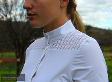 Load image into Gallery viewer, Cavalleria Toscana 'Crochet' Womens Competition Shirt White (0001) / S Competition Shirt