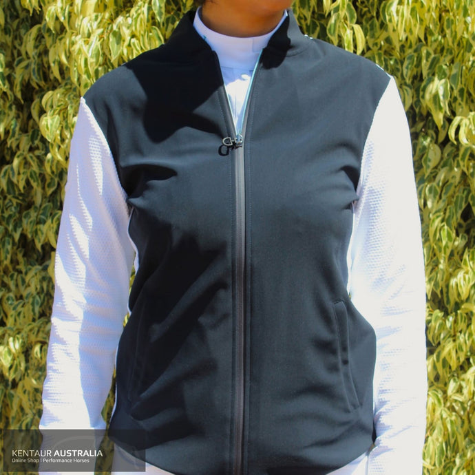 Cavalleria Toscana Embossed Jersey with Contrast Stripe Womens Casual Jacket Navy (7901) / M Jumpers and Jackets