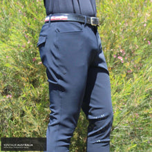 Load image into Gallery viewer, Cavalleria Toscana 'Knee-hi Perforated' Mens Casual Breeches Blue (7001) / IT 50 Casual Breeches Men