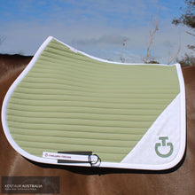 Load image into Gallery viewer, Cavalleria Toscana 'Laser Cut CT Insert' Jumping Saddle Pad Pistachio (5201) / Full Saddle Pad