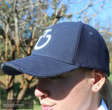 Load image into Gallery viewer, Cavalleria Toscana 'Mesh' Cap Navy (7901) Rider Accessories