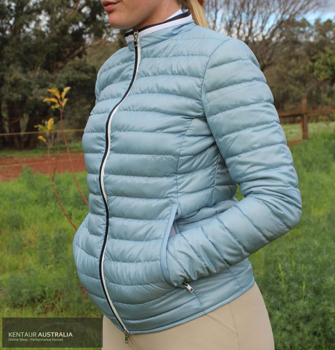 Cavalleria Toscana 'Quilted Puffer' Womens Casual Jacket Light Blue (7500) / S Jumpers and Jackets