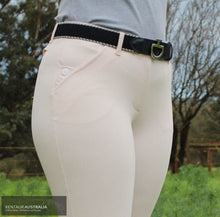 Load image into Gallery viewer, Cavalleria Toscana 'Squared Perforated' Womens Casual Breeches Light Pink (2525) / AU 10 Casual Breeches