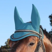 Load image into Gallery viewer, Cavalleria Toscana Tech Jersey Ear Bonnet Green (5800) / Full Ears