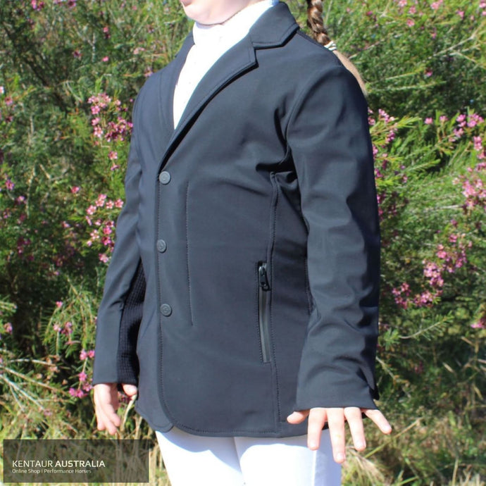 Cavalleria Toscana Tech Knit Childrens Competition Jacket Black (9999) / 10 Show Jackets