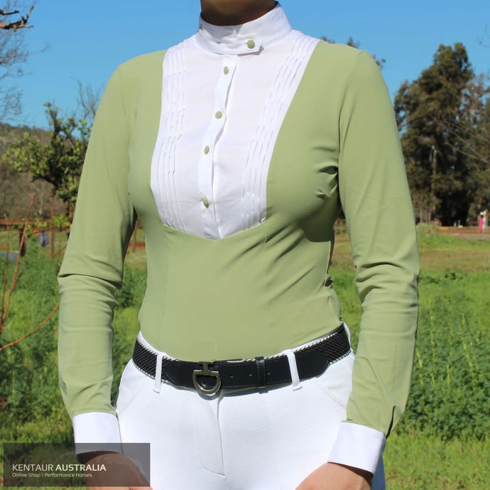 Cavalleria Toscana 'Technical Shirt with Bib SS20' Womens Competition Shirt Pistachio (5200) / M Competition Shirt