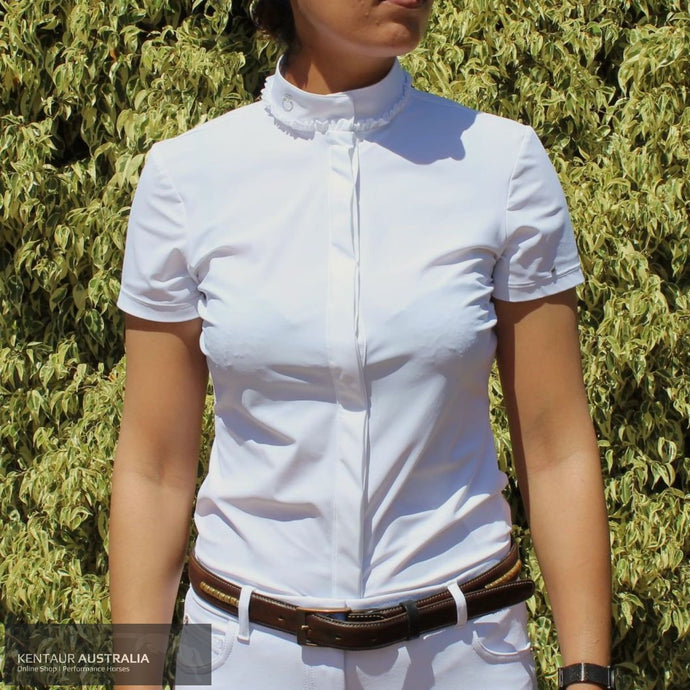 Cavalleria Toscana Tiny Ruffled Womens Competition Shirt White (0001) / XS Competition Shirt