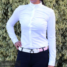 Load image into Gallery viewer, Cavalleria Toscana Topstitch Womens Competition Shirt White (0001) / S Competition Shirt