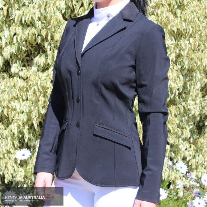 Cavalleria Toscana Zip Womens Competition Jacket Black (9999) / 40 Show Jackets