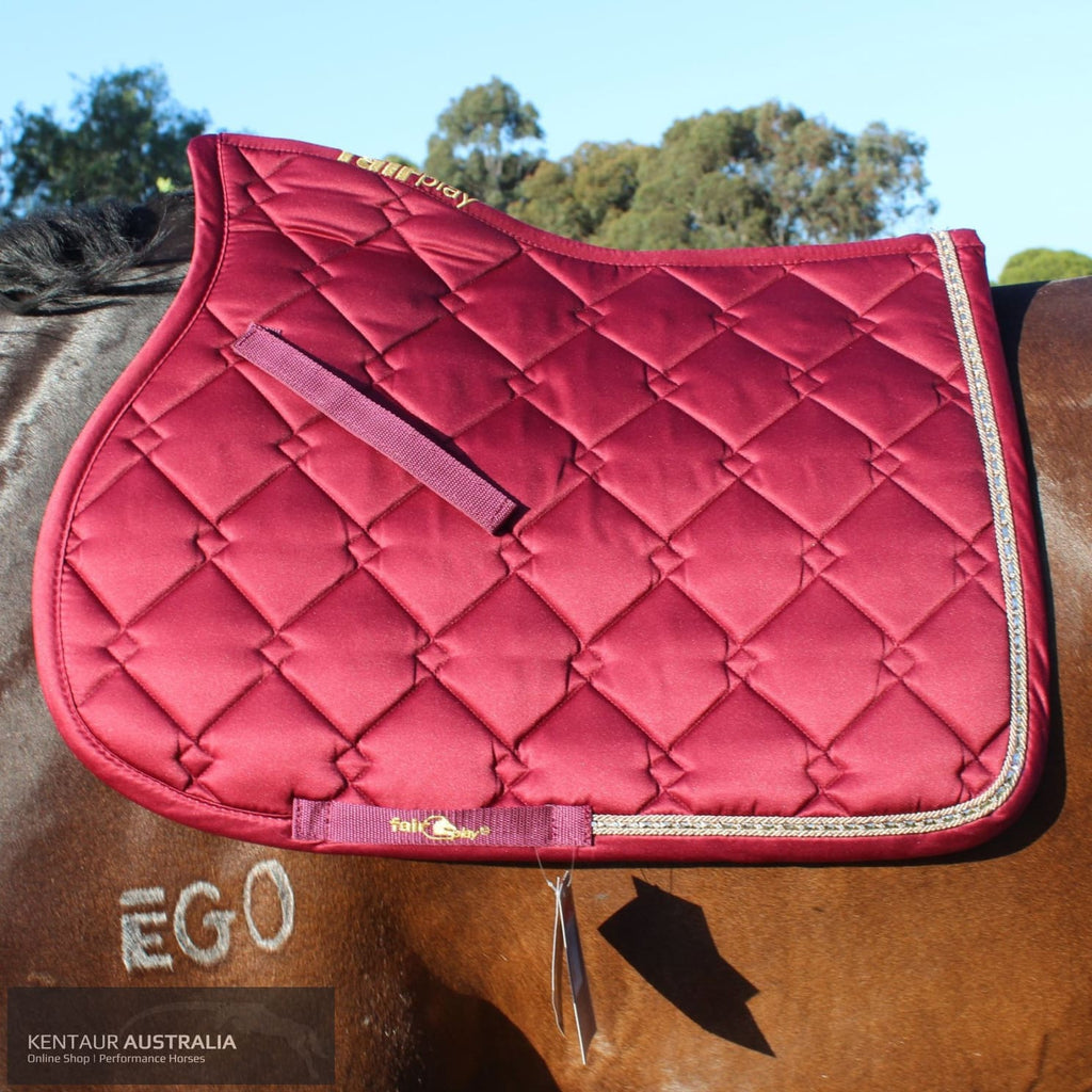 Fairplay Azuryt Saddle Pad Deep Red / Full Saddle Pad
