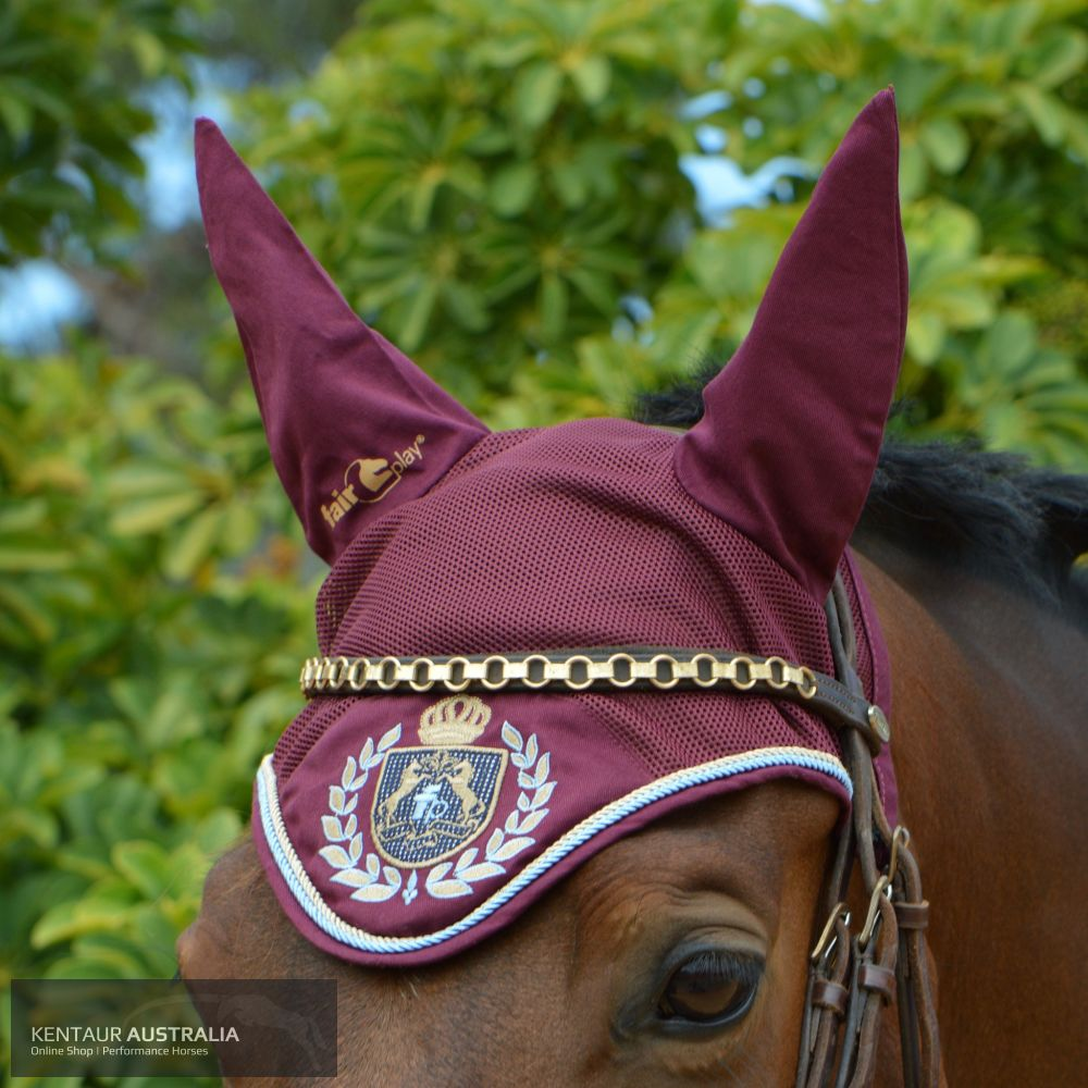 Fairplay Royal Diamond Ear Bonnet Deep Red / Full Ears