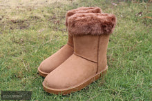 Load image into Gallery viewer, HKM 'Davos' All-Weather Boots Camel w/ Fur / 36 Footwear