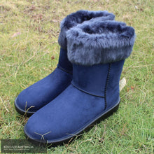 Load image into Gallery viewer, HKM 'Davos' All-Weather Boots Navy w/ Fur / 40 Footwear