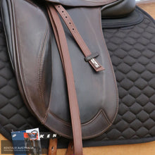 Load image into Gallery viewer, Kentaur Calf Stirrup Leathers With Nylon Lining Tobacco / 140Cm Saddle Accessories